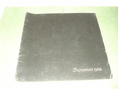 Vintage 1968 Ford Thunderbird Car Brochure, Every Page Is Pictured
