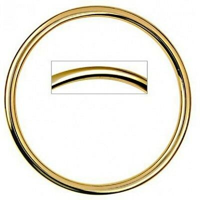24Ct Gold Plated Plain Round Golf Bangle Suitable For Babies/children- 45Mm