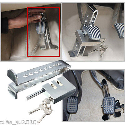 Steel Forging Clutch Brake Pedal Lock 8 Holes Anti-theft Devices Accessories Set