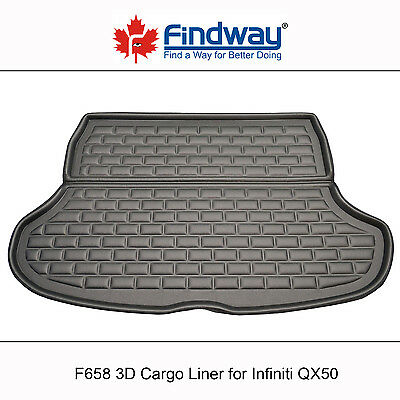Black All Weather 3D Cargo Liner / Trunk Mat for 2008-2013 Infiniti QX50