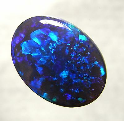 Australian Opal, Lightning Ridge Black Opal Solid Polished Natural Gemstone 8158