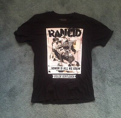 Rancid Violent Gentlemen Honor Is All We Know T Shirt Size Large