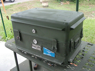 US Military Aluminum Shipping & Storage Container Case (Ship AH-64 Apache Parts)
