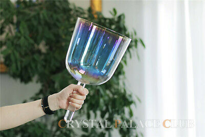 """Clear Handled Quartz Crystal Singing Bowl Perfect Note A 5octave 3.5"""""""
