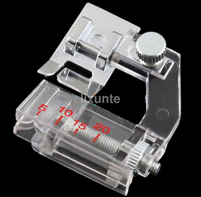 Useful Silver Snap-on Adjustable Bias Binder Presser Foot For Sewing Machines