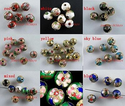 Nice Cloisonne Enamel Round Beads Spacers 50 6mm/50 8mm/20 10mm/20 12mm
