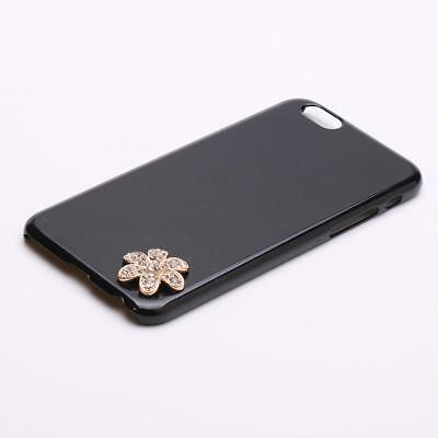 5pcs Metal Cabochon Rhinestone Flower Shape DIY Cell Phone Case Bling Design