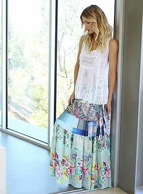 NWT Johnny Was FLORAL TIERED SKIRT  $278 Retail  50% Off!