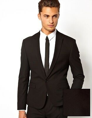 """ASOS Black Skinny Fit Suit Jacket Blazer, 34"""" chest PRE-OWNED, ALMOST NEW COND."""