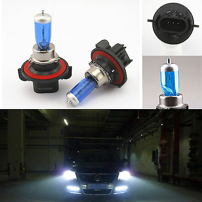 2 Pcs H13 9008 SUPER WHITE XENON HID HEADLIGHT BULBS LOW/HIGH BEAM 12V 65/55W