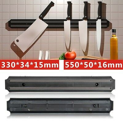 Wall Mounted Kitchen Magnetic Knife Holder Wooden Storage Rack Tool 55cm/33cm