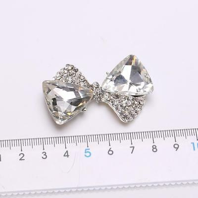5pcs 3D Crystal Glass Rhinestone Bowknot DIY Phone Case Embellishments Decor