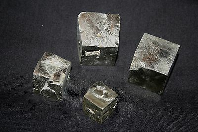 4 large IRON PYRITES CUBIC CRYSTALS (B)