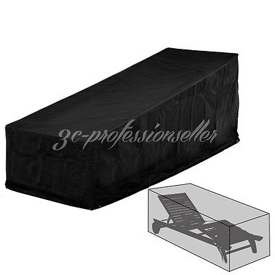Waterproof Garden Furniture Protection Sun Lounger Sunbed Recliner Shelter Cover