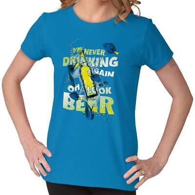005ba318b Never Drinking Again Look Beer Funny Graphic Tee Shirts Tshirts For Women