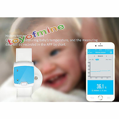 Smart Bluetooth Thermometer Monitor Wearable Safe Bluetooth Intelligent Baby Kid