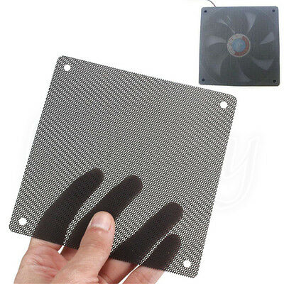 Cuttable PVC PC Fan Dust Filter Dustproof Case Computer Mesh 80/120/140mm Black