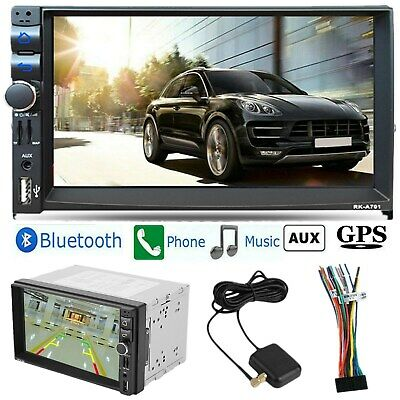 "Bluetooth Car Stereo DVD CD Player 6.2"" Double 2Din Radio iPod SD/USB In-Dash HD"
