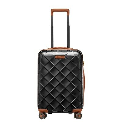 Stratic Leather and More 4-Rollen Trolley S 55 cm Black