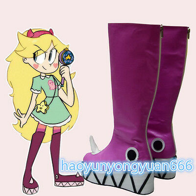 Star vs.the Forces of Evil Princess Star Butterfly Magic Shoes Boots Custom Made