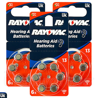 Rayovac Hearing Aid 13 Size Special batteries * Zinc air Mercury free x 60 cells