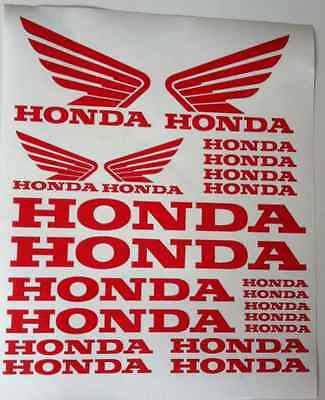 Honda Honda Wings Tank Motorcycle Van Car Vinyl Decals Stickers set ALL COLOURS