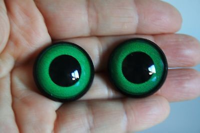 Safety eyes, 26 mm 1 pair green stuffed animal teddy bear amigurumi crafts big