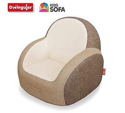 Dwinguler - Kids Sofa - Wood Brown - Kinder Sofa - Child Sofa