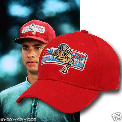 1994 BUBBA GUMP SHRIMP CO, Baseball Cap Adjustable Embroidered Adult Red Hat