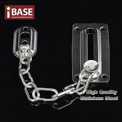 Door Chain Latch Guard Security Lock Sliding Fastener Home Office Stainless