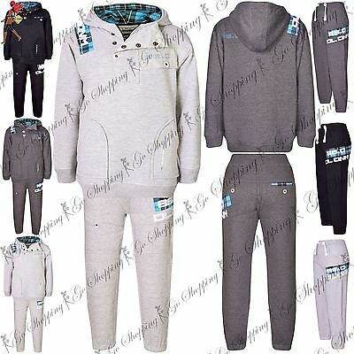 Kids DL Project 86.0 Jogging Hooded Contrast Tartan Lining Hoodie Tracksuit Set