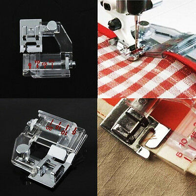 Snap On Bias Tape Binding Binder Foot for Domestic Sewing Machine Ajustable Tool