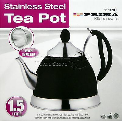 1.5L Light weight Stainless Steel  Kettle Camping Mint Tea Cordless 169