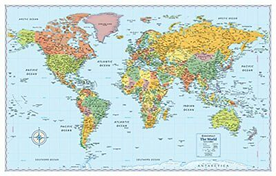 Rand McNally Signature Map of the World, 50 x 32-Inch, Rand McNally