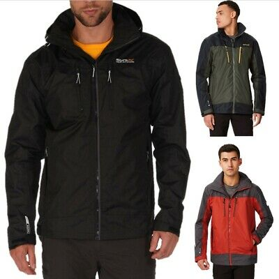 REGATTA MENS CALDERDALE II WATERPROOF ISOTEX JACKET BLACK RED or BLUE RMW225