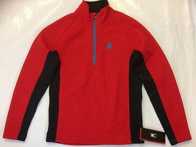 Spyder Outbound Men's Half Zip sweater Red/black. Sizes M & L