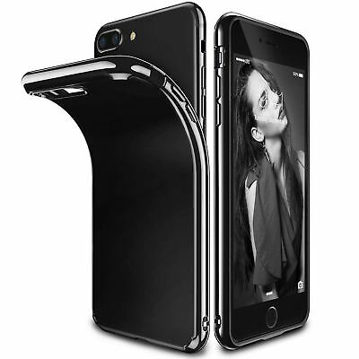 Ultra Thin Shockproof Jelly TPU Jet Black Case Cover Apple iPhone 10 X 8 7 6s 5s