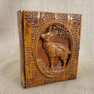 Antique Black Forest Book Cover Photograph Album Hand Carved Victorian Carving