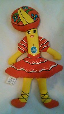 VINTAGE CHIQUITA BANANA 1975 Advertising Cloth Stuffed Rag Doll Toy Cute