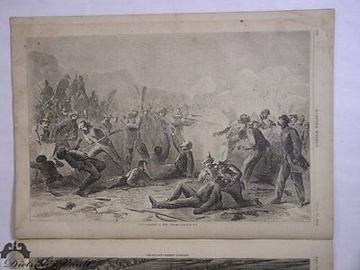 African American; The Massacre at Fort Pillow. Harper's Weekly 1864 Civil War