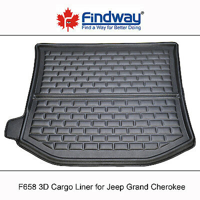 Black All Weather 3D Cargo Liner / Trunk Mat for 2011-2017 Jeep Grand Cherokee