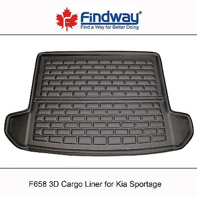 Black All Weather 3D Cargo Liner / Trunk Mat for 2017 Kia Sportage