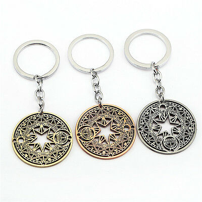 Card Captor Sakura Magic Array Key Chain Metal Alloy Keyring Pendant Gift Random