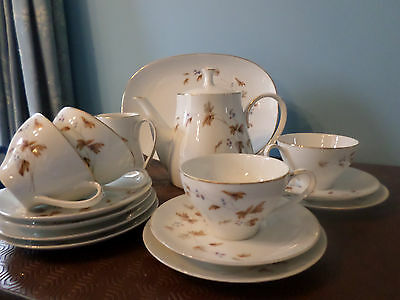 Vintage Noritake 'Woodland' Tea Set, Service, 15 pieces / 4 cups