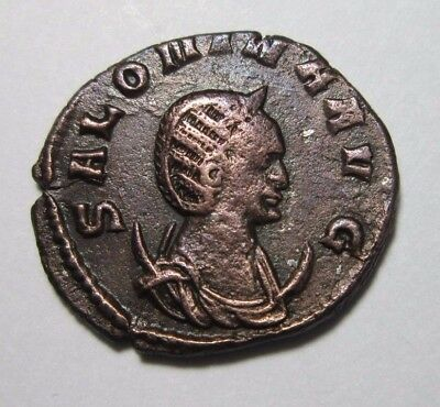 Ae Antoninianus. Salonina, Wife Of Gallienus, Augusta 254-268 Ad. Pudicitia.