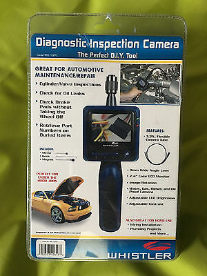 Whistler WIC1229C Waterproof Inspection Camera Brightness Control LCD Screen NEW
