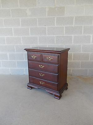 "Thomasville Collectors Cherry Chippendale Style Night Stand 28""W x 30""H"