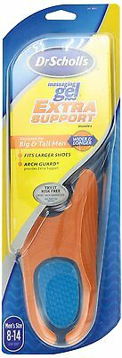 Dr. Scholl's Gel Extra Support Insoles(US Size 8-14 Wider&Longer )TALL & BIG MEN