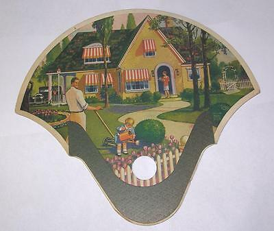Vtg 1930 Advertising Cardboard Hand Fan 14Th Annual Daughters Rebekah Convention