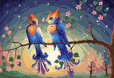 Love birds-DIY Painting 16x20 inch paint by number kits unique gift Frameless